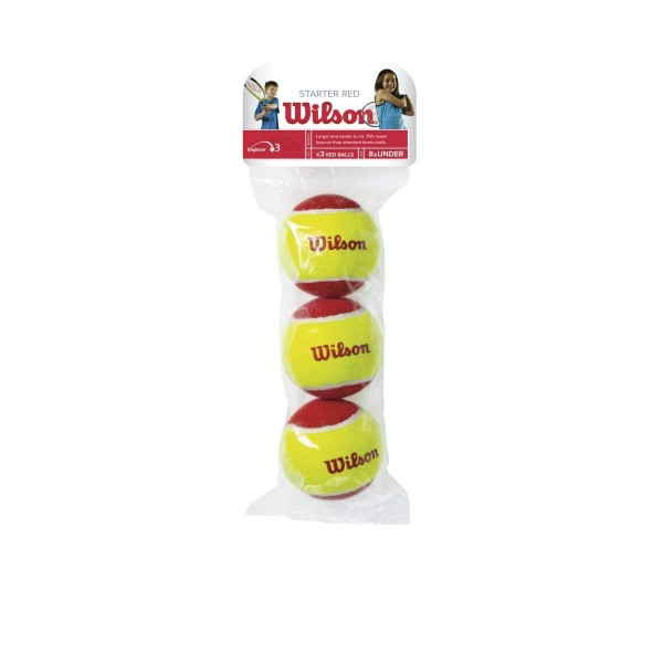 Wilson Starter Red Balls x3